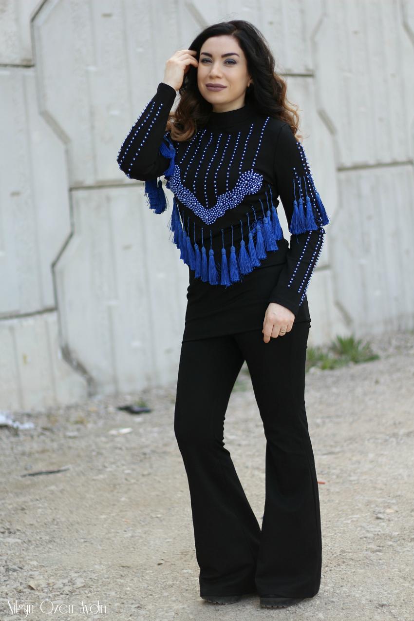 Püsküllü Elbise-alışveriş-moda blogu-Fashion bloggers