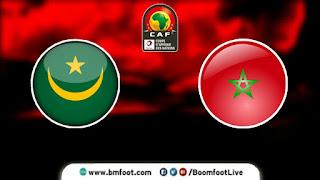 بث مباشر مباراة المغرب ضد موريتانيا مباشرة اليوم في تصفيات كأس أمم افريقيا 2021