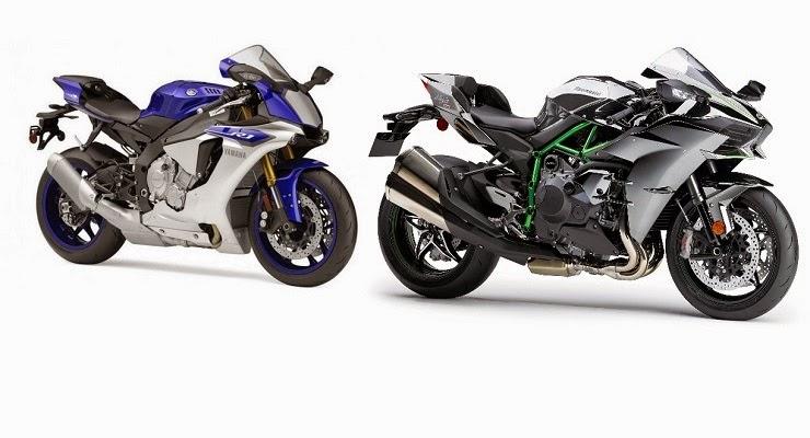 Ray superbike yamaha r1m vs kawasaki h2r for Yamaha r1m specs