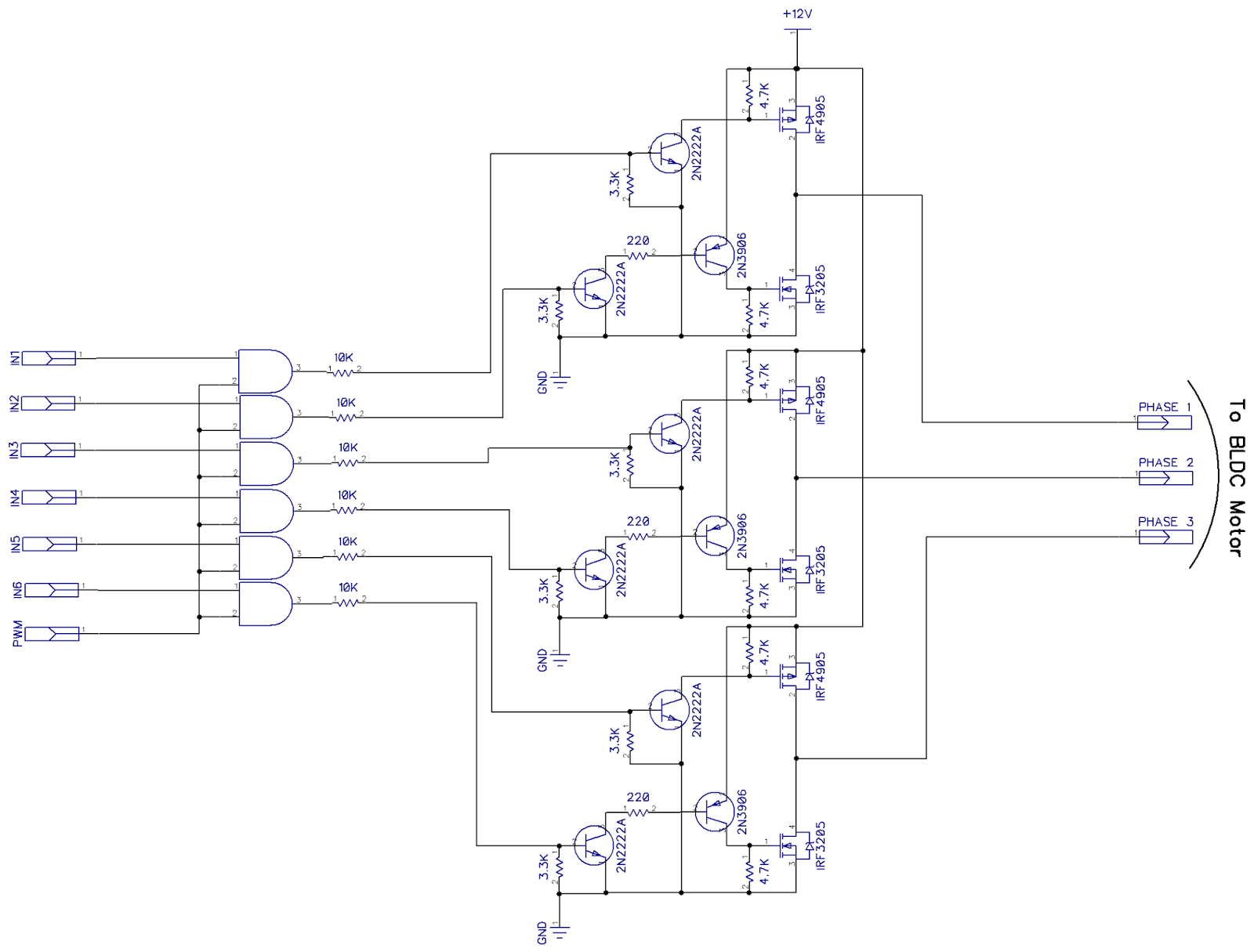 Electronic & Microcontroller Projects: Three Phase BLDC