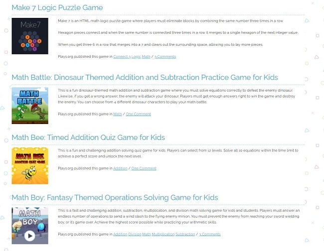 Free Online Educational Games