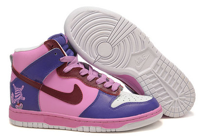 best sneakers dd6ec ad48c Nike Dunk Cheshire Cat Shoes Purple High Top For Men