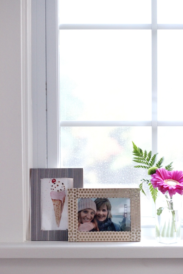 Washi tape DIY- picture frames wooden spoons, holiday, gifting