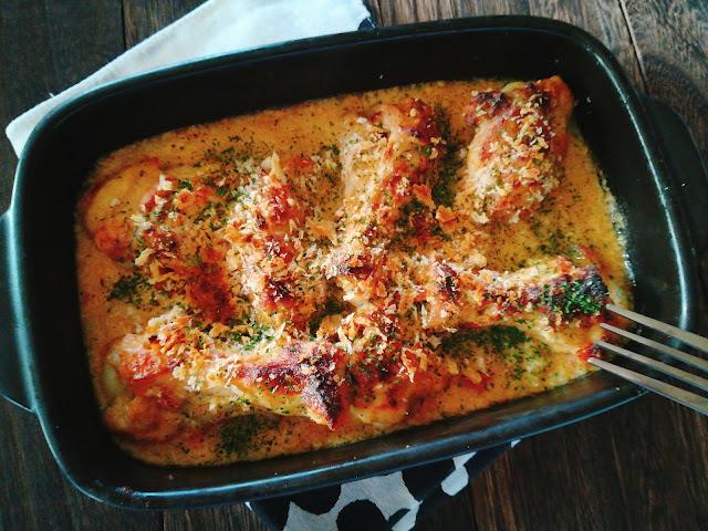 長芋と手羽元の豆乳チーズグラタン風2