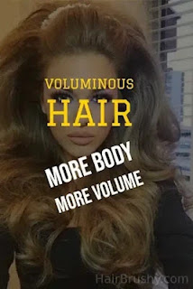 Don't brush your hair then you get voluminous hair in spots