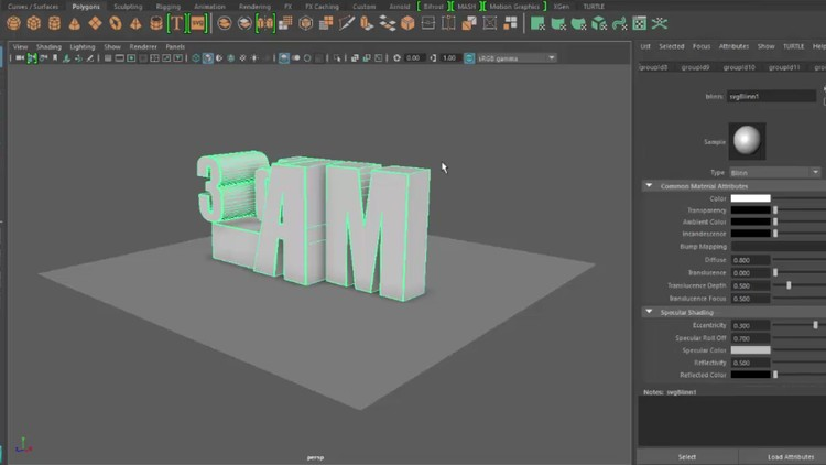 Getting Into Maya 2017 udemy course