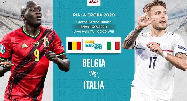 GRATIS Link Live Streaming Belgia VS Italia Euro 2021 Malam Ini