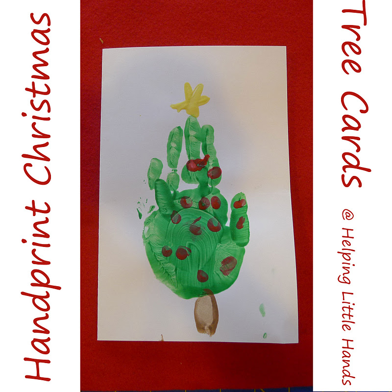 Pieces by Polly: Handprint Christmas Tree Cards: Tutorial