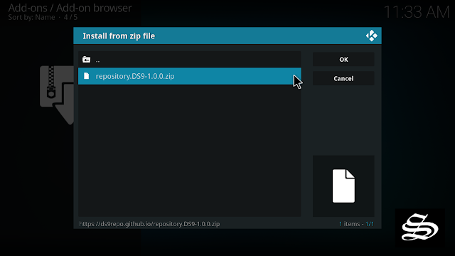 install-ds9-kodi-add-on