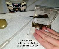 press down wet powder pan broken pieces tips tricks makeup hack