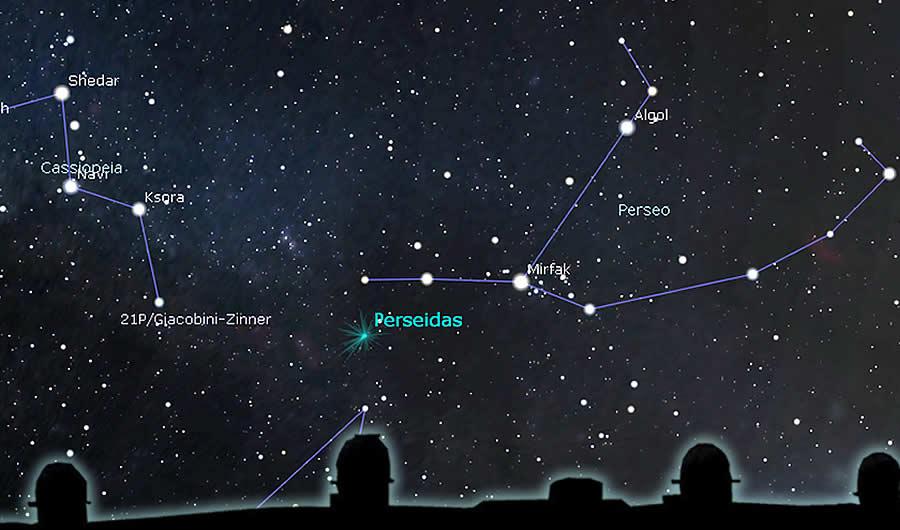 Lluvia de meteoros, Las Perseidas, lágrimas en el cielo 13 Agosto 2018.