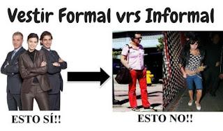 Vestir formal contra vestir informal