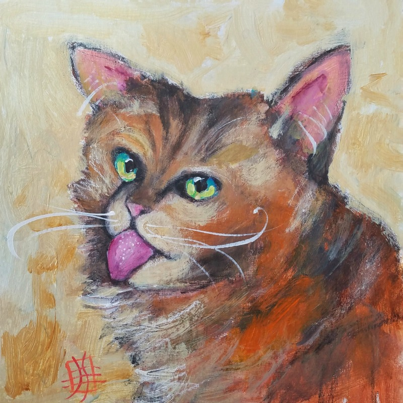 CAT #21 by Joanie Springer No No No Not My President