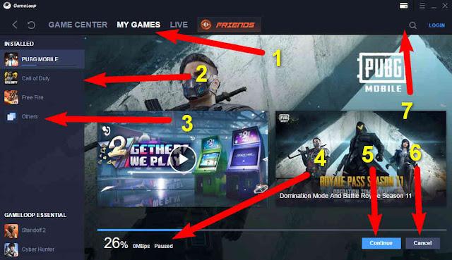 شرح سريع للواجة المحاكي Tencent Gaming Buddy Game loop