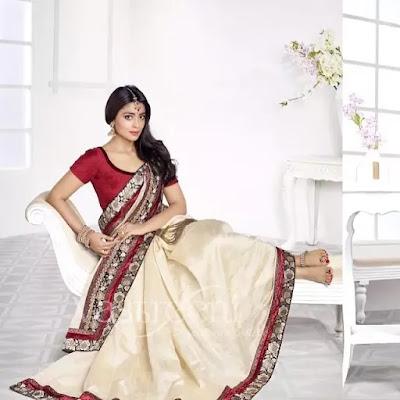 Shriya Saran Simple Wavy Hairstyle