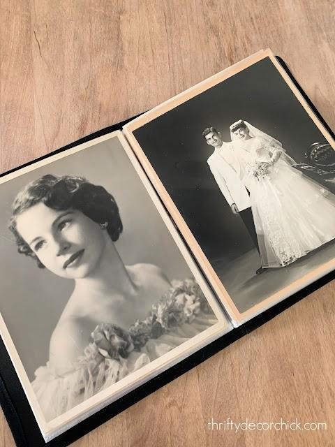 protecting old photos in portfolios