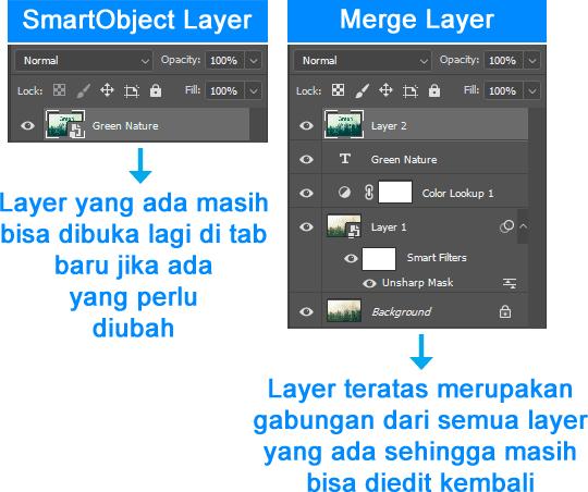 Alternatif penggunaan Flatten Image di Photoshop