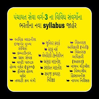 Panchayat Various Bharti Syllabus.