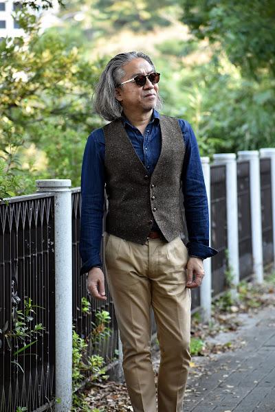 40代メンズのカジュアル ジレのスタイル