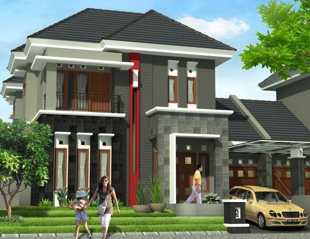 Contoh desain rumah minimalis type 70 dua lantai