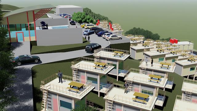 site plan villa perumahan