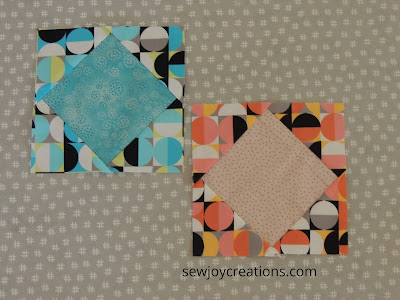 2 ways to make square in a square pieced blocks