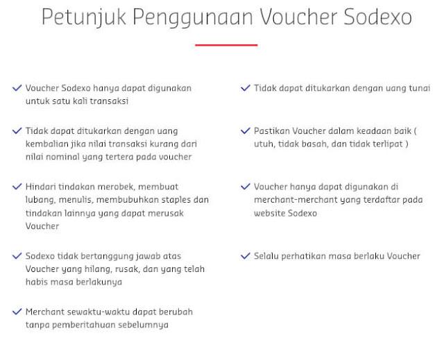 petunjuk penggunaan voucher sodexo