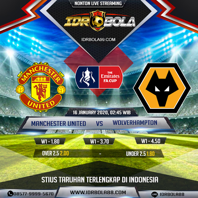 Prediksi Bola Manchester United vs Wolverhampton 16 January 2020