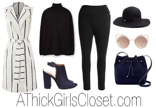 Plus Size Outfit| Stripes & Navy - A Thick Girl's Closet