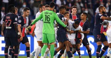 شاهد طرد نيمار و4 لاعبين بعد اشتباكات بالايدي بين لاعبي باريس سان جيرمان ومارسيليا