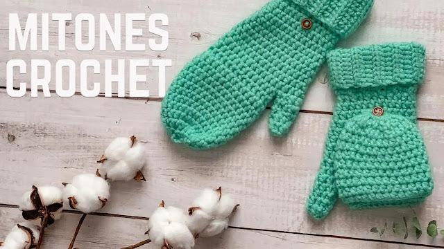 Como Tejer Mitones Reversibles a Crochet