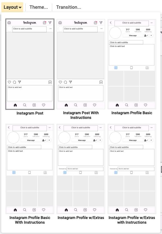 Updated Instagram Template For Google Teachingtechnix