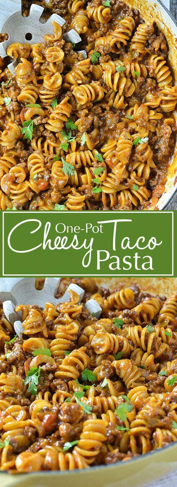 Easy One Pot Cheesy Taco Pasta Recipe