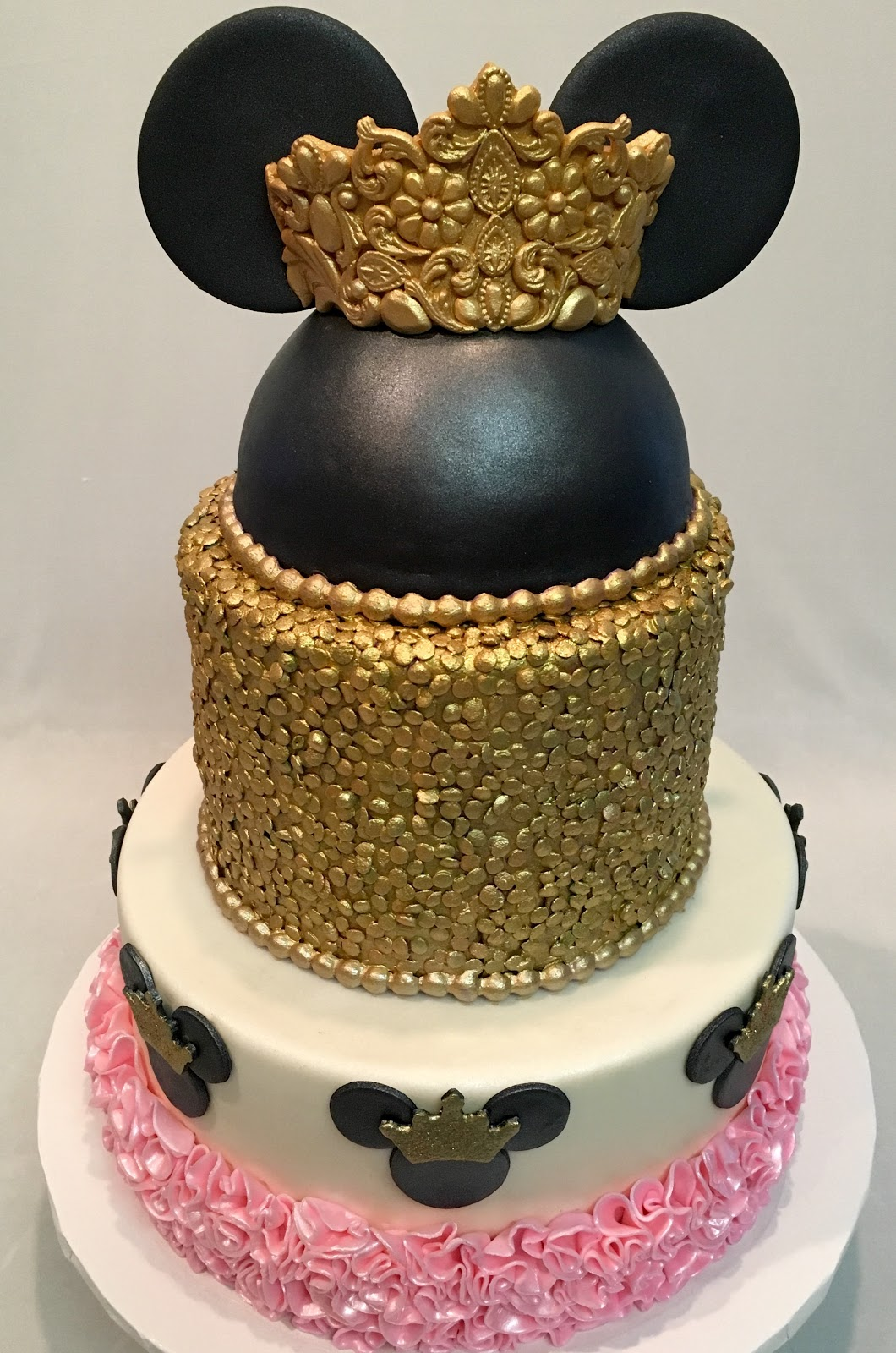 Mymonicakes Princess Minnie Mouse Cake With Tiara Gold