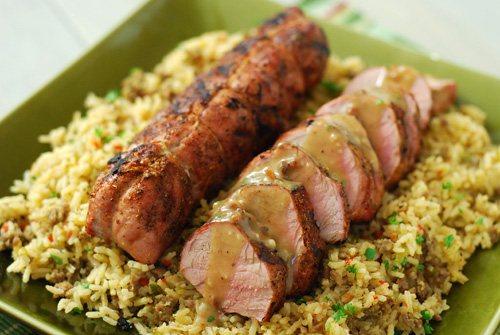 Dizzy Pig Dirty Rice, BBQ side dish, Big Green Egg rice,