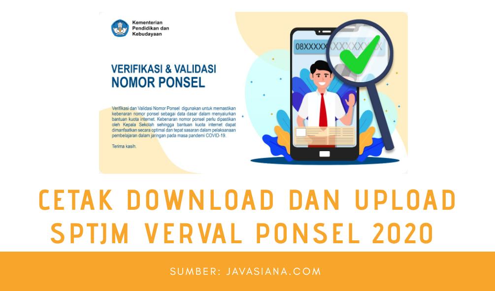 3 Cara Cetak Download dan Upload SPTJM Verval Ponsel Paling Mudah