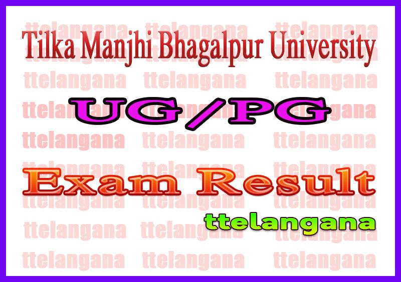 Tilka Manjhi Bhagalpur University Result