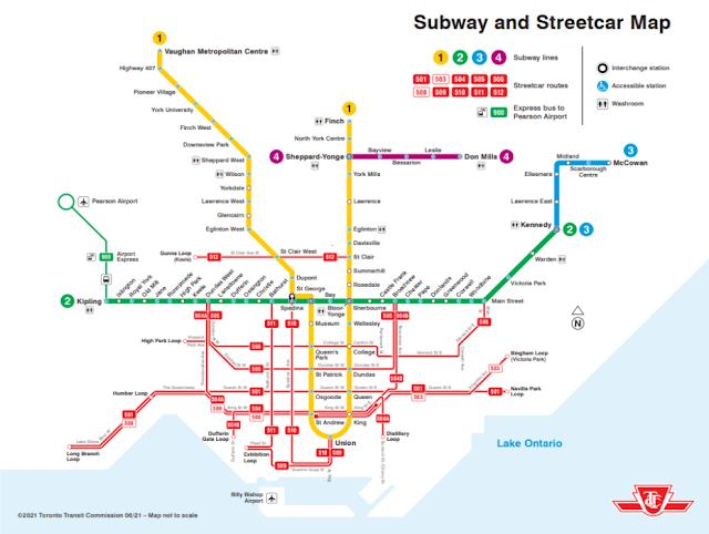 Transporte público em Toronto - mapa do metrô e dos streetcars