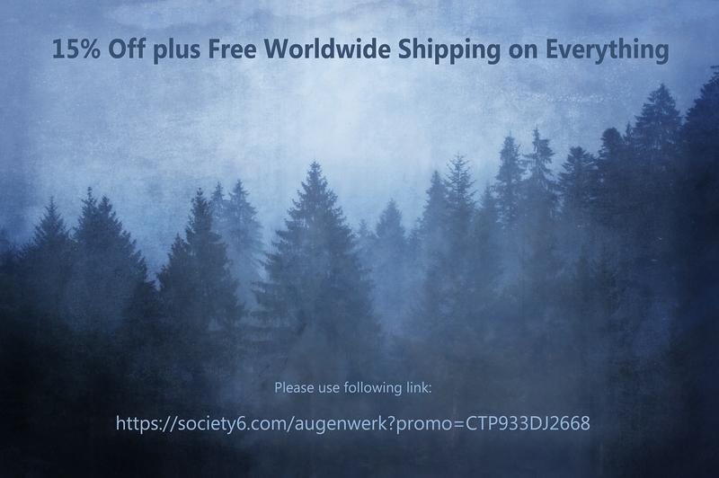 augenwerk, susann serfezi, society 6, aktion, promo, wald, forest, nebel, fog, mist, vintage, photography