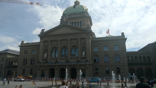 a beautiful government building of Bern. I think?