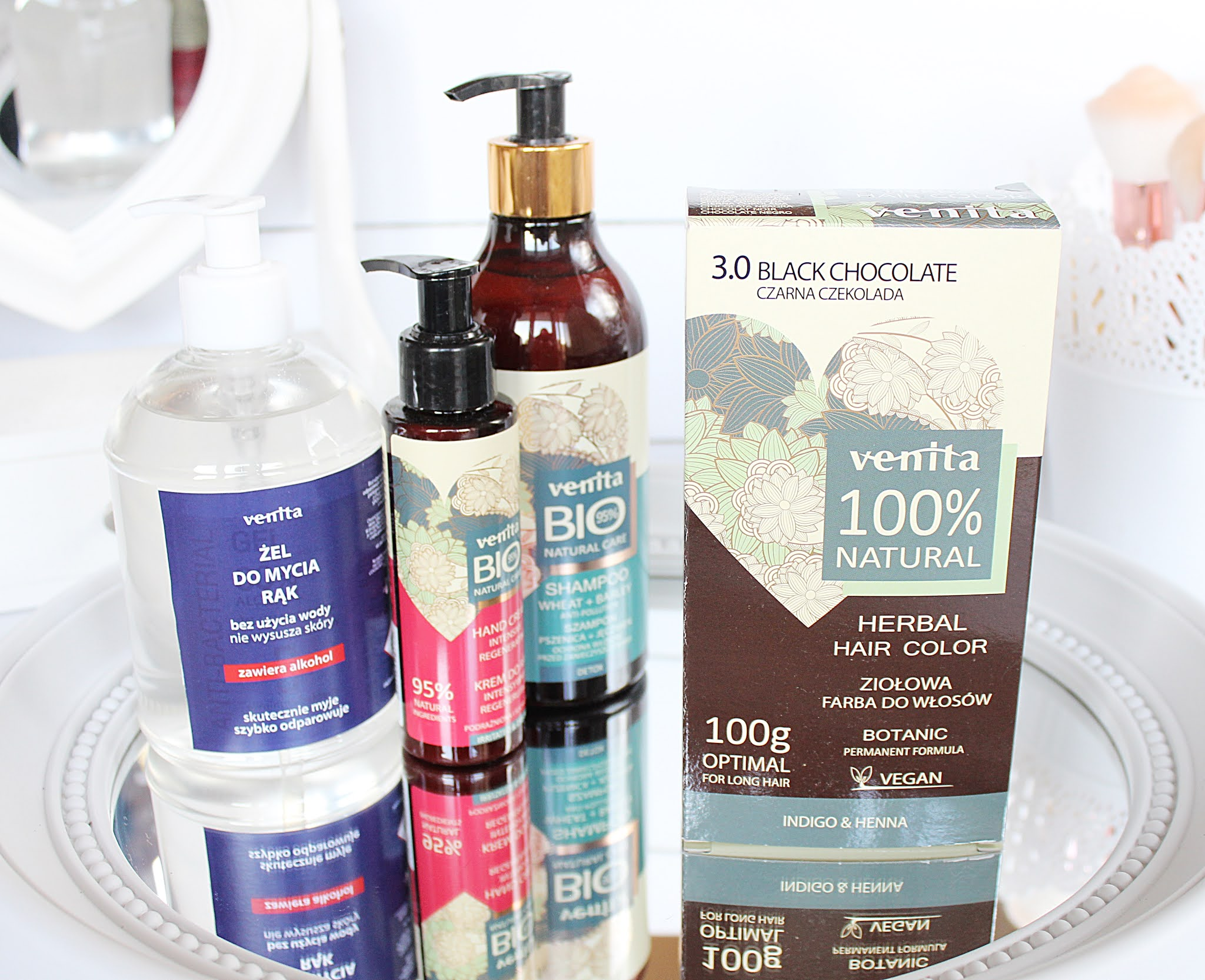 Venita farby ziołowe do włosów 100 % natural