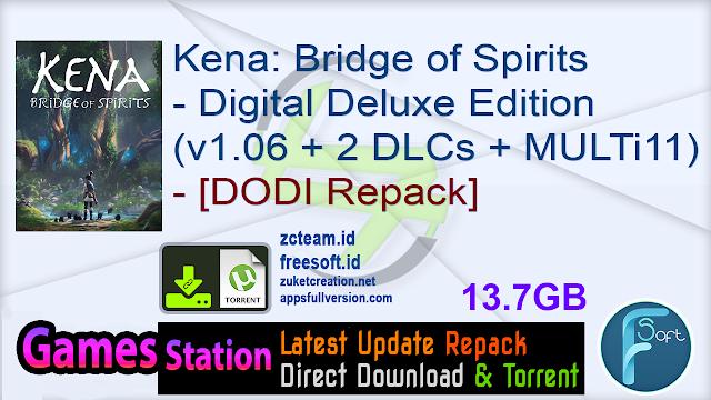 Kena: Bridge of Spirits – Digital Deluxe Edition (v1.06 + 2 DLCs + Bonus Soundtrack + MULTi11) – [DODI Repack]