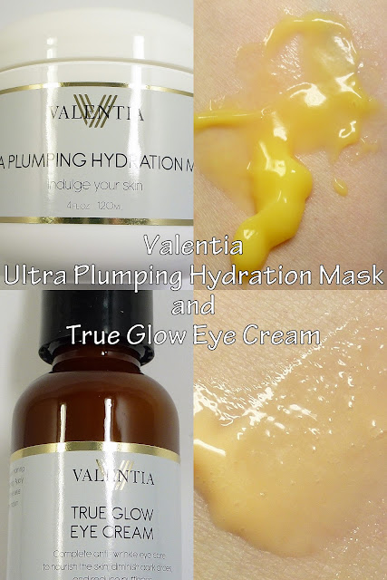 Valentia Ultra Plumping Hydration Mask and True Glow Eye Cream