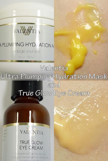 Valentia Ultra Plumping Hydration Mask and True Glow Eye Cream