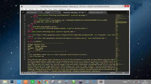 aplikasi editor teks script templete blog yang bagus dan mudah gampang terbaik
