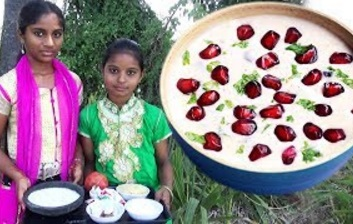 Village Foods – Amazing Traditional Girls Cooking Sweet King Of Pomegranates Payasam Village Style