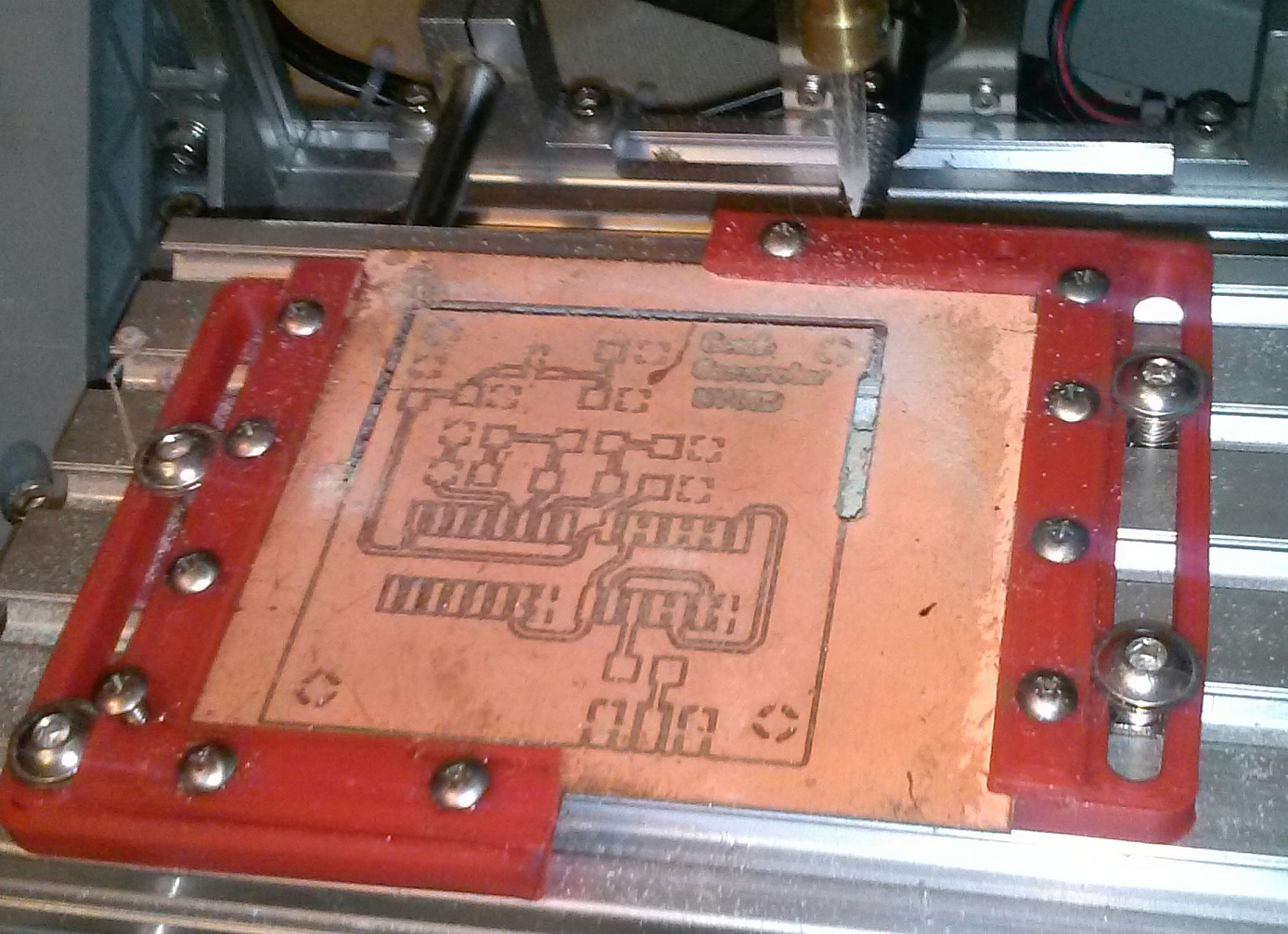 Duwaynes Place Cnc Engraver Update 12 6 17 High Quality Circuit Board Scrap Buy Scrappcb It Is Small Enough And Sits Right Next To My Computer Desk Now I Can Design Layout Mill A With Out Having Even Get Up From The