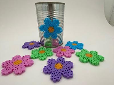 Hama bead flowers