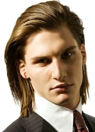 model rambut pria panjang rapi