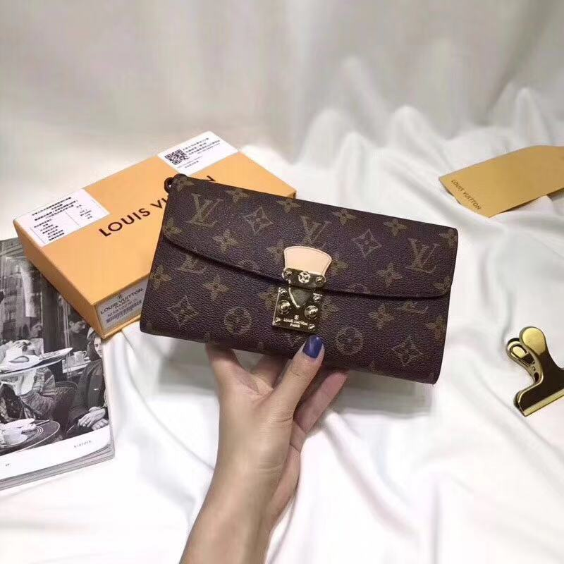 8eb7965caef0 LOUIS VUITTON LV Cowhide Leather Clutch Long Wallet Multipurpose Pouch Purse  with Lanyard. Order Code  TOTI29208118